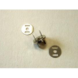 Fermeture aimantée pour fermeture de sac argentée 2 cm