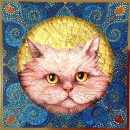 Chat aux yeux orange
