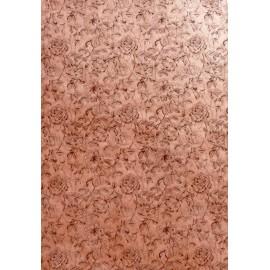 Roseraie brun sur fond rose saumon