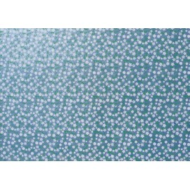 Semis de fleurs blanches sur fond bleu clair