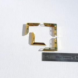 4 angles en laiton ajourés 22x22x3