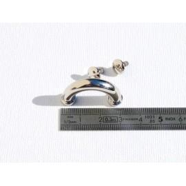 Poignée ronde nickel 3 cm