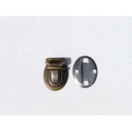 Fermoir Tuck couleur bronze 1,8 x 2,5 cm