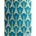 Tour Eiffel naturel sur bleu canard