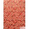 Chiyogami Idéogrammes sur fond rouge