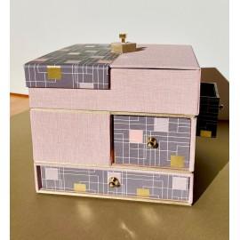 Boîte 5 tiroirs - Tutoriel de Christel Drugeon