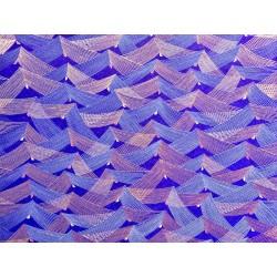 Japonais filets or sur bleu violet