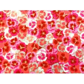 Japonais magnifique parterre de pensées roses et grises
