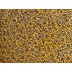 Anémones fond jaune