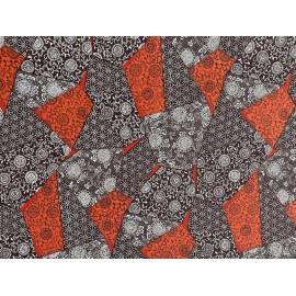 Japonais patchwork noir et rouge