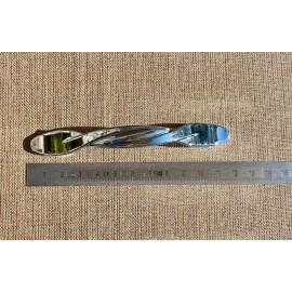 Poignée métal torsadé nickel brillant