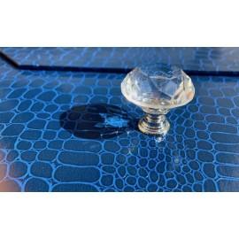 Bouton carafe à facettes transparent