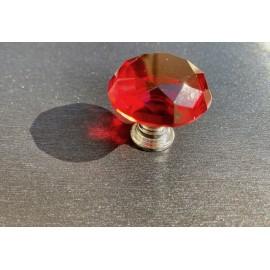 Bouton carafe à facettes rouge