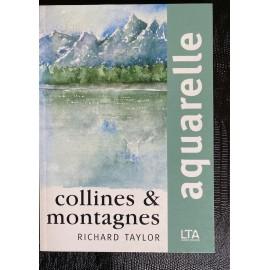Aquarelle Collines et montagnes