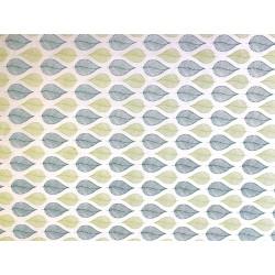 Feuilles turquoise anis sur blanc