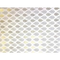 Feuilles or et gris sur blanc