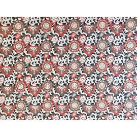 Fleurs indiennes rouge et noir