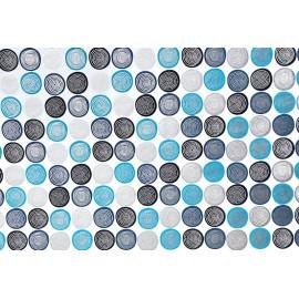 Spirales bleu sur blanc