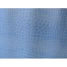 Pellaq croco bleu ciel