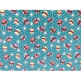 Japonais  temari fond bleu