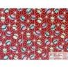 Japonais  temari fond rouge