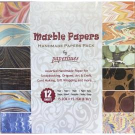 Pack Origami papiers marbrés