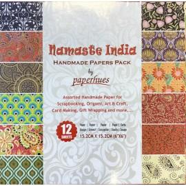 Pack Origami papiers imprimés indiens fantaisie