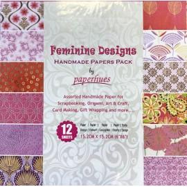 Pack Origami papiers indiens au féminin