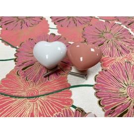 Bouton coeur blanc