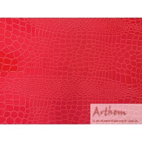 Pellaq croco rouge clair