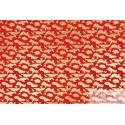 Japonais grues sur rouge vermillon