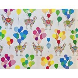 Lamas et ballons