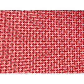 Japonais angles rouges sur gris