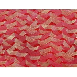 Japonais filets or et rose sur rouge