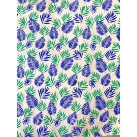 Palmes bleu et vert émeraude
