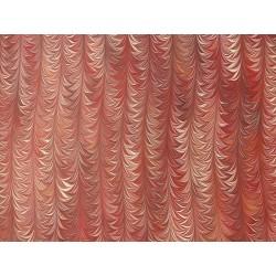 Marbré palmé tons rouges