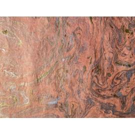 Marbré népalais rose saumon/or/argent