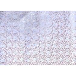 Ramages rose nacré sur blanc
