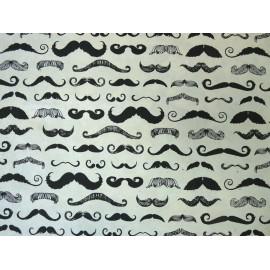 Moustaches noir sur naturel