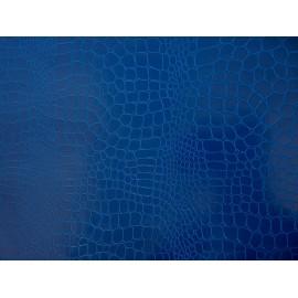 Pellaq croco bleu vif