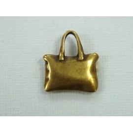 Embellissement petit sac laiton antique