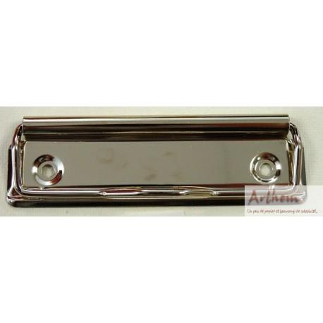 Pince pour porte bloc metal argenté