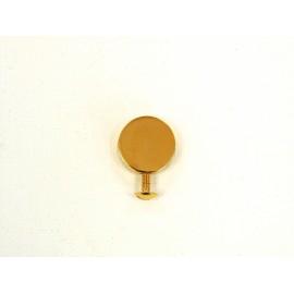 Bouton de col  disque laiton doré