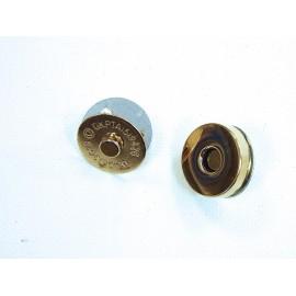 Fermeture aimantée pour fermeture de sac dorée 18mm