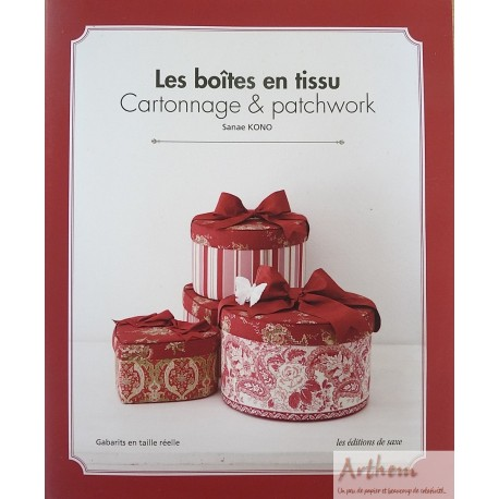 Les bo tes en tissu cartonnage patchwork for Boite en tissu