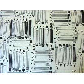 Crayons noirs sur naturel